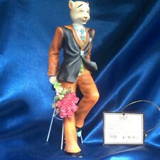 """Alley Cats Figurine By Margaret Le Van ~ """"Dante� from the Male Cat Collection"""
