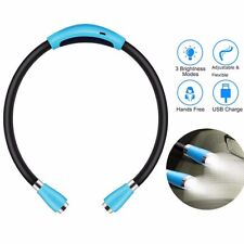 Neck Light 4 LED Rechargeable Neckband Book Bed Reading Hands Free Flexible Lamp