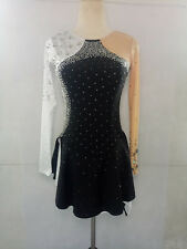 competition ice figure skating dress child and women ice skating dress black