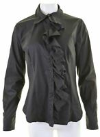 MAX MARA Womens Shirt Blouse UK 16 Large Black Cotton  U110
