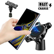 Fast Wireless Charger Car Magnetic Air Vent Mount Holder for Samsung S9 Iphone X