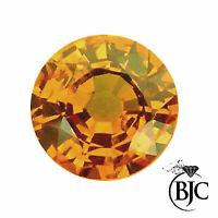 BJC® Loose Natural Orange Sapphire Round Brilliant Cut Multiple Natural Stones