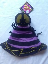 """Halloween Spider Novelty Hat Fancy Dress Party Up 20"""" All The Way Round Kids New"""