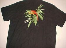 The Frogman Clothing Black Red Green Frog 100% Silk Embroidered Camp Shirt 2Xl