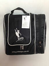 AMDance Designs BLACK WITH WHITE TRIM Hair and Cosmetics Bag