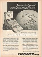 1964 Original Advertising' American Advertising Ethiopian Airlines E.Hemingway