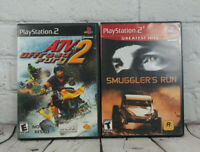 PS2 Smuggler's Run & ATV Offroad Fury 2 (Sony PlayStation 2) Video Game Lot
