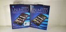"2x AT&T LG Phoenix 3 5"" HD Display 4G LTE 16GB Prepaid Android Cell phone Black"