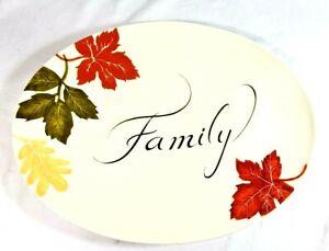 Thanksgiving Fall Harvest Family Platter Oval 18x13.5 Turkey Platter Better Home