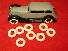 Large Smooth tires for Dinkys, Dark Cream, 17mm, Lot of 8, NEW Listing