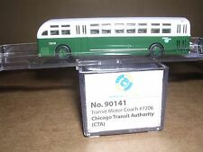 """Wheels of Time #90141 CTA C-49-PGT City Transit Bus #7206 """"N.Gauge"""""""