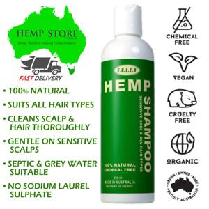 GREEN Hemp Shampoo Sulfate Free Hydrating Hemp Seed Oil Shampoo Sensitive Scalps