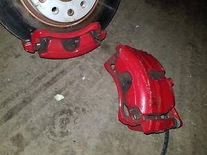 GENUINE VW GOLF GTI 2.0 PETROL PAIR OF FRONT BRAKE CALIPERS + PADS, MK7 MK7.5
