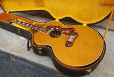 Gibson SJ 200 J 200 Vintage Factory Refin 1948 Natural Sunburst Flame Back Sides