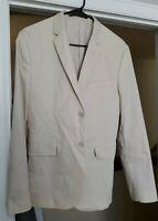 40R H&M Slim Fit Blazer - Men Beige Cotton Sport Coat Suit Jacket Coat
