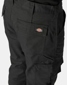 "Dickies Mens Workwear Trousers Utility Black Hardwearing W32"" x L31"" New K942"