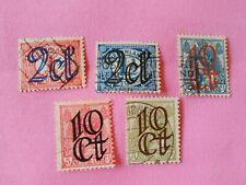 STAMPS - TIMBRE - POSTZEGELS - NEDERLAND - PAY-BAS  1923 NR. 116/120 (ref.NL63)