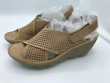 Clarks Artisan Suede Perforated Wedges Clarene Award (1603) Sand Size 9.5M CR