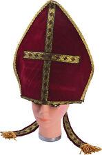 Halloween Religious Fancy Stag Party Red Pontiff Pope Catholic Priest Hat UK