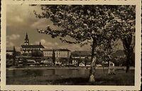 Leitmeritz Litoměřice s/w AK 1937 Teilansicht Blick auf den St. Stephans Dom