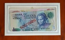 GHANA Specimen Set 1 to 10 Cedis (1976 - 1977) UNC.