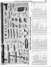 1950 Print Ad of Marlin Model 80 80E 80C & 80DL Rifle Parts List