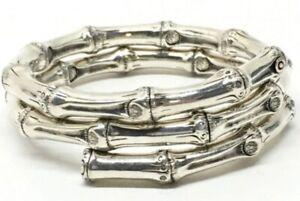 🎋 John Hardy Sterling Silver Bamboo Coil Snake Wrap Bangle Bracelet $895 Rtl 🎋