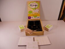 The Game Of Things Hasbro sealed cards in Wooden Box Case 2009 All There