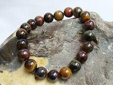 Men's Natural Gemstone Bracelet Tiger Eye 10mm beads stretchable elasticated