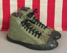 Vintage 1940s Militar Od Lona Verde Gimnasio Zapatillas WWII Zapatos Atléticos