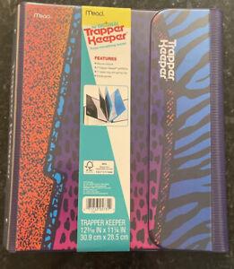 Trapper Keeper Vintage Retro Portfolio Binder Animal Leopard Print NEW Mead
