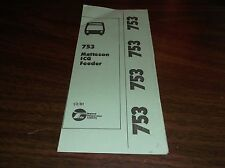 JANUARY 1981 CHICAGO RTA ROUTE 753 MATTESON BUS SCHEDULE