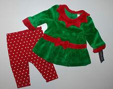 Langarmshirt + Hose~USA~56-62~Weihnachten~Christmas~Elfe~Babyanzug~Zweiteiler