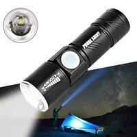 Adjustable LED Zoom 7000 Lm Mini USB Rechargeable Flashlight Torch Lamp Light PK