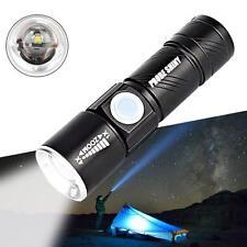 Adjustable LED Zoom 4000 Lm Mini USB Rechargeable Flashlight Torch Lamp Light 0ウ