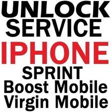 SPRINT TMOBILE BOOST VIRGIN IPHONE UNLOCK SERVICE 8 8+ X 7 All(Read Description)