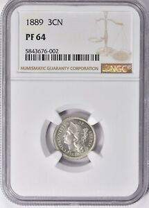 1889 Three Cent Nickel Proof NGC PF 64