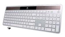 Logitech K750 Wireless Solar Keyboard for Mac White Silver 920-003472 920-003677