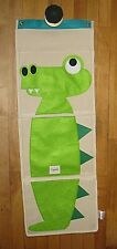 3 SPROUTS ORGANIC COTTON ORGANIZER CROCODILE HANGING WALL POCKET HANGER