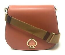 Kate Spade Betty Suzy Large Saddle Bag Tawny Pebble Leather PXRUA396 $378