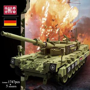WW2 1747Pc Leopard 2 Hauptpanzer-Bausteine Militär Spielzeuggeschenke für Kinder