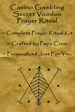 Casino Gambling Voodoo Prayer Ritual Kit Gambler Success Poker Roulette Slots