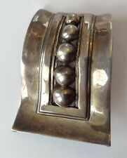 Sterling Silver Abstract Brooch Vintage Lopaz Mexico Signed
