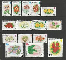 Ascension 1981 Flower defs UM/MNH SG 282a/296a
