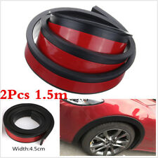 2Pcs 1.5M 4.5cm Car Wheel Trim Rubber Fender Moulding Flares Protection Strips