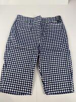 New York & Company Womens Bermuda Shorts Plaid Stretch 10 7th Avenue Design