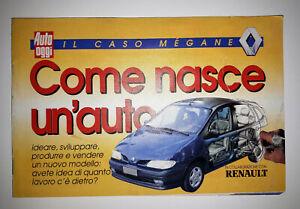 DEPLIANT RENAULT MEGANE COME NASCE UN'AUTO Suppl. AUTO OGGI 24 giugno 1997-64 Pa