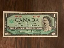 Bank of Canada $1.00 One Dollar Note 1967 S/N 1867 - 1967 Choice UNC