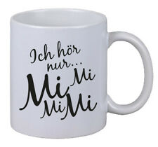 """Kaffee Tasse """"Ich Hör Nur Mi Mi Mi"""" Geschenk Weihnachten X-Mas Fun Gag Büro Chef"""