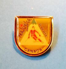 Vintage Lapel Hat Jacket Snow SKIING Pin Nakiska Ski Resort Alberta Canada 125